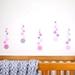 Dusky pink dots medium – reusable fabric wall decal