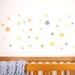 Mustard Yellow dots medium – reusable fabric wall decal