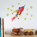 Red Rocket wall decal – small