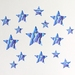 Paua Stars wall decal – small