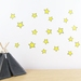 Yellow Stars wall decal – small