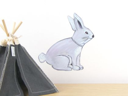 Bunny wall decal – small