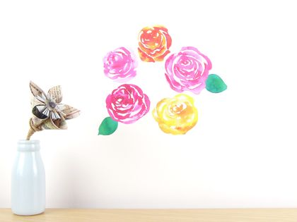 Rose wall decal small