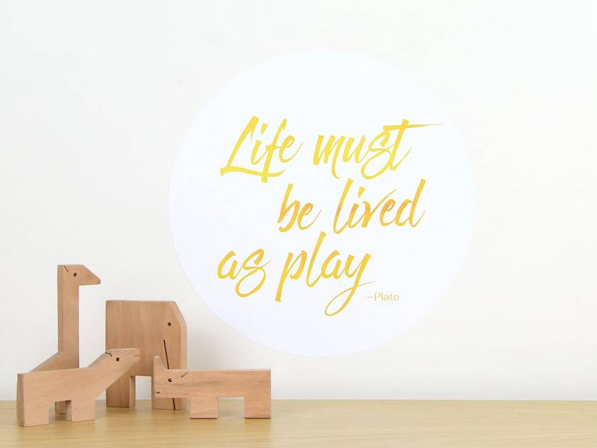 Life as play quote dot wall decal – small