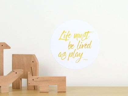 Life as play quote dot wall decal – tiny