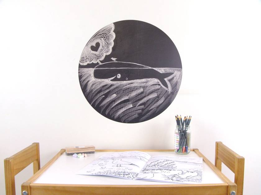 Black Chalkboard dot wall decal – large