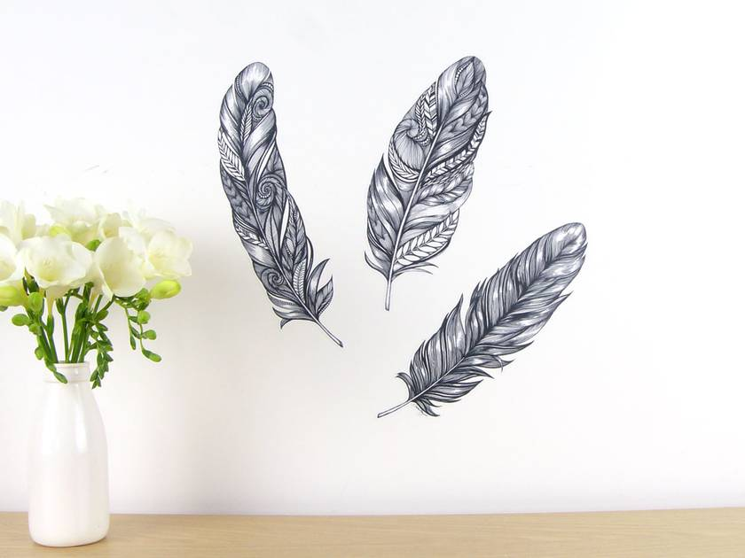 Feather wall decals – small
