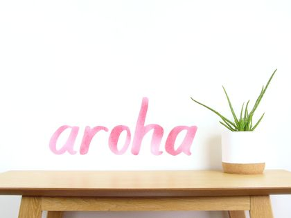 Aroha wall decal medium