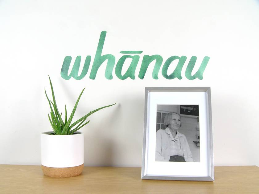 Whanau wall decal medium