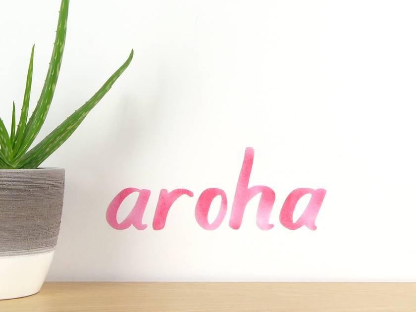 Aroha wall decal tiny