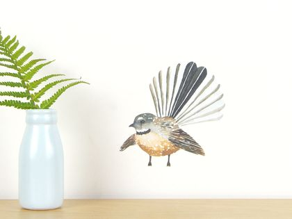 Fantail tiny wall decal