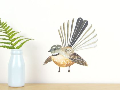 Fantail small wall decal