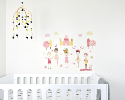 Castle Girls wall decal – wall mural