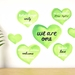 We are one wall decal – Medium