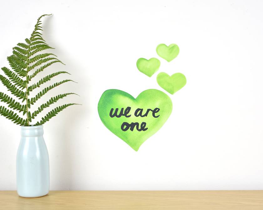 We are one wall decal – Tiny