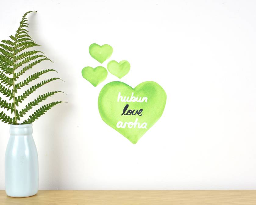Love wall decal – Tiny