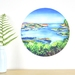 Lyttelton Harbour small dot wall decal by Ira Mitchell