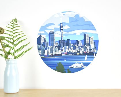 Auckland Waterfront small dot wall decal by Ira Mitchell