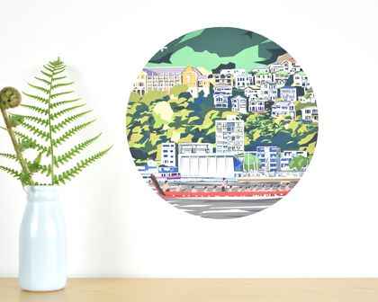 Wellington Waterfront small dot wall decal by Ira Mitchell