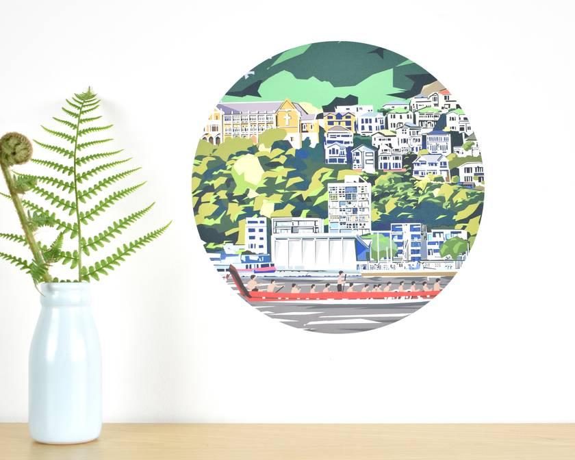 Wellington Waterfront small dot wall decal by Ira Mitchell