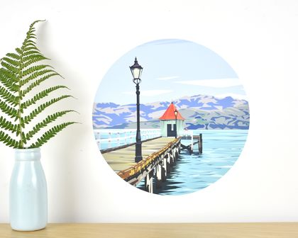 Dalys Wharf small dot wall decal by Ira Mitchell