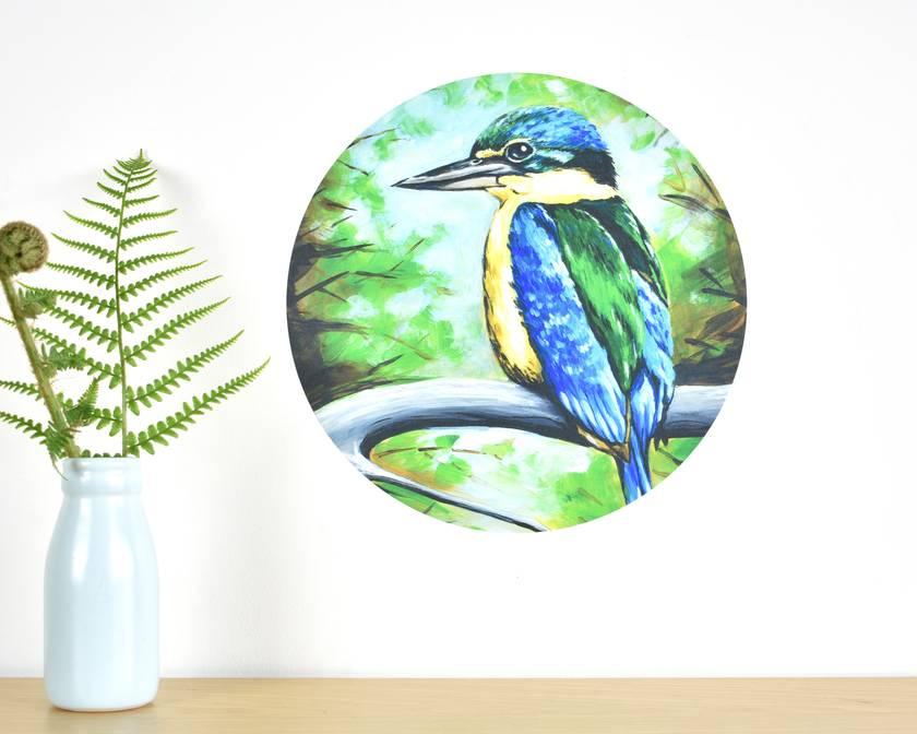 Kingfisher small dot wall decal by Ira Mitchell
