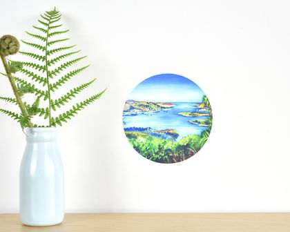 Lyttelton Harbour tiny dot wall decal by Ira Mitchell