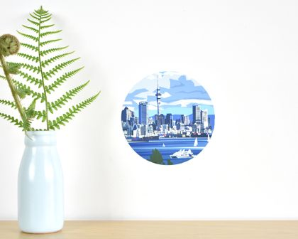 Auckland Waterfront tiny dot wall decal by Ira Mitchell
