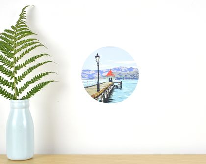 Dalys Wharf tiny dot wall decal by Ira Mitchell