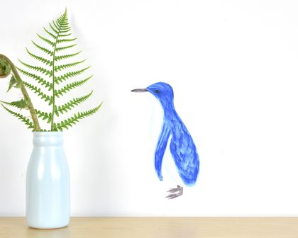 Penguin tiny wall decal
