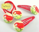 Parrot Set - Hair Clips &  Ties