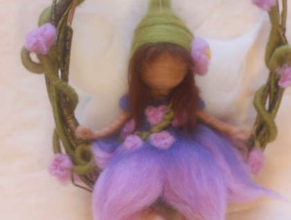 Lavender Blue Garland Fairy