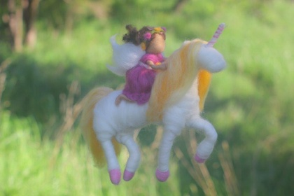 Fairy Riding her Unicorn