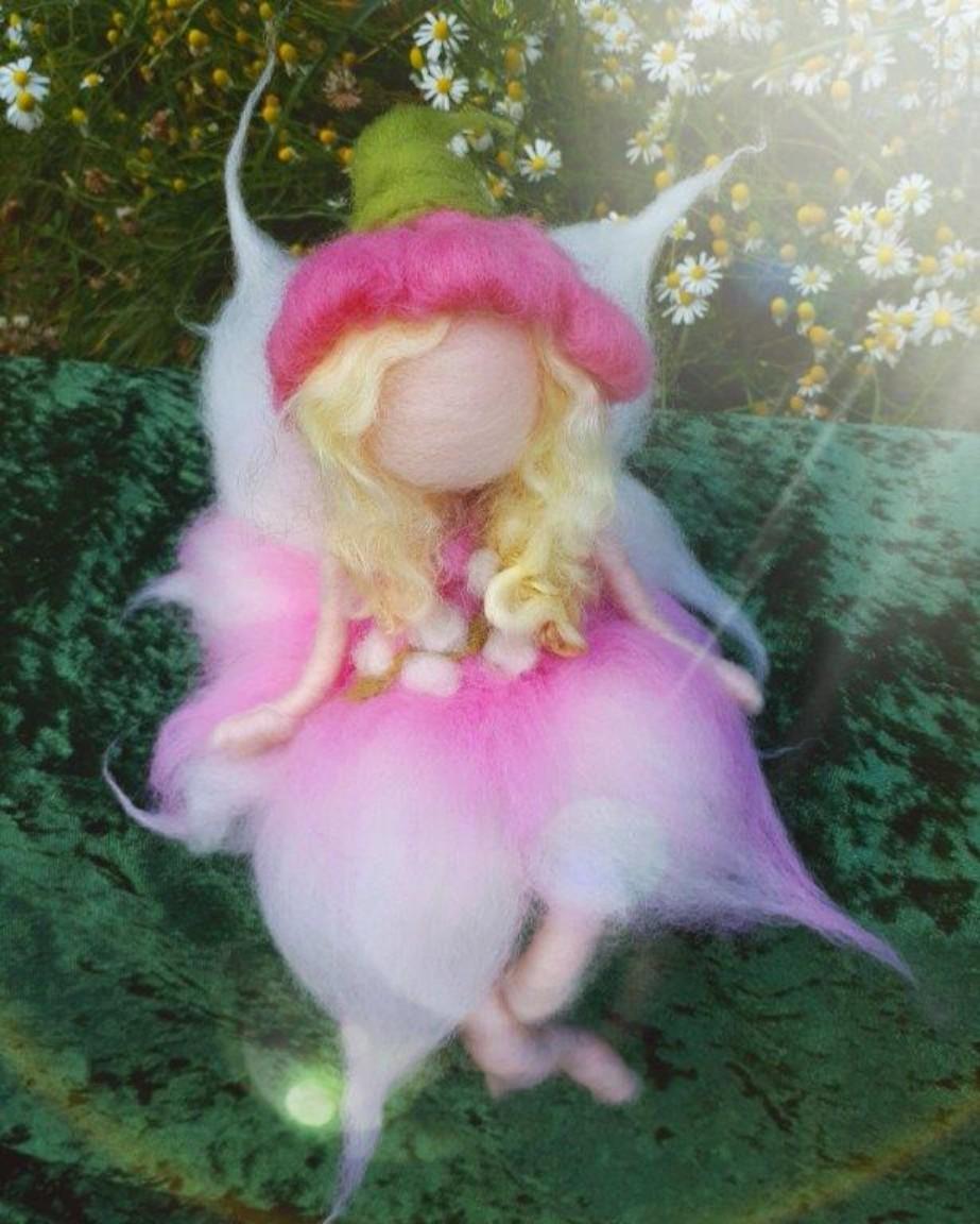 Sweet Pink Flower Fairy Felt