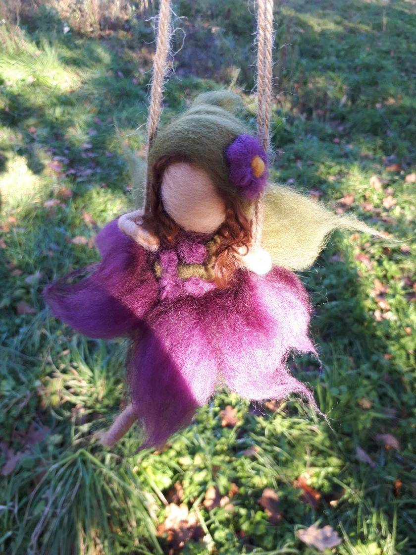 Purple Swinging Fairy