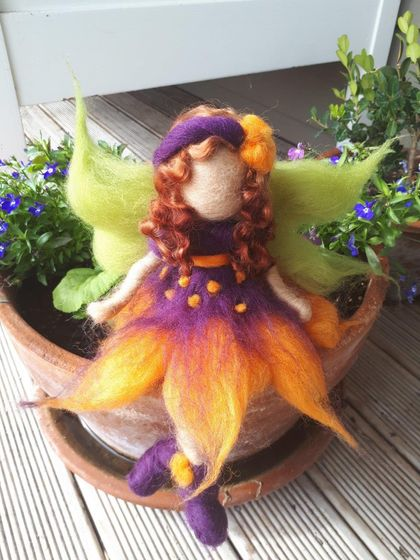 Funky Purple and Orange Fairy