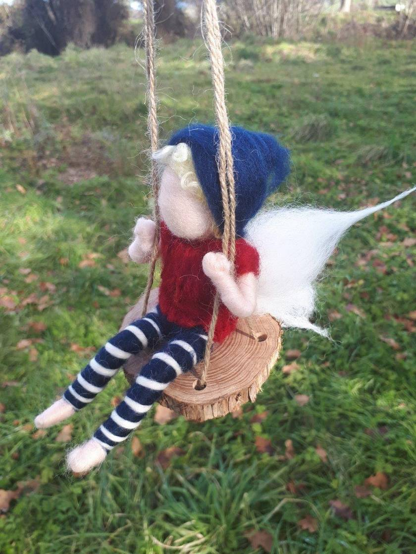 Pixie on a Swing