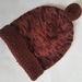 100% Wool Hand Knitted Beanie - 1 to 2 years Rust Mix