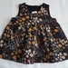 Cute Corduroy Winter Pinafore - Black/Mustard Floral  1 Only in 2 sizes