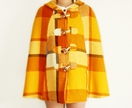 Madeline Cape in Saffron Yellow Plaid