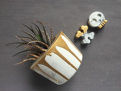 Industrial Inspired Marble Effect Planter