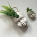 Funky, eclectic dolls head planters - set 3