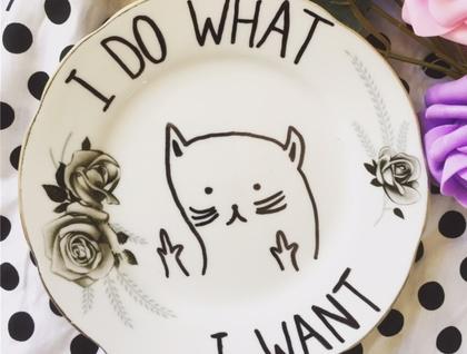 Stunning, handmade, 'I DO WHAT I WANT' feature wall hanging - NZ artist