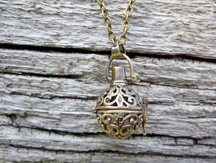 Wish Locket - Vintage Vibe - Antiqued Brass Perfume Pomander