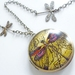 Dragonfly's Delight ... Gorgeous brass locket with divine detailed image
