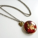 A Wonderland Rabbit ... Gorgeous brass locket with divine detailed image