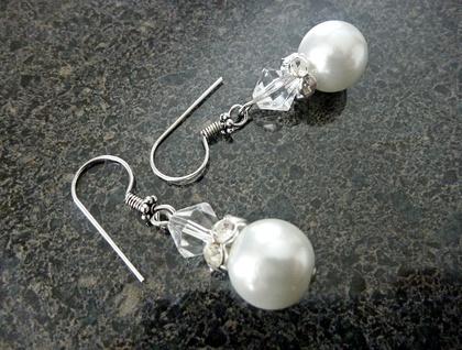Earrings - Pearl and crystal Bridal Beauties