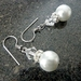 Earrings - Pearl and crystal Bridal Beauties
