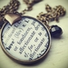 The meaning of Love...  Antiqued Brass word pendant with charms