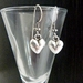 Earrings - Gorgeous Antiqued Silver Hearts